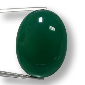 Green Agate Gem - 70.5ct Oval Cabochon (ID: 457884)