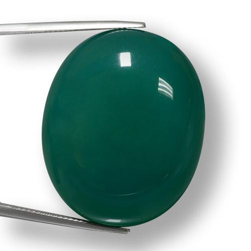 78.98 ct Ovale Cabochon Vert Agate gemme 33.50 mm x 27.4 mm (Photo A)