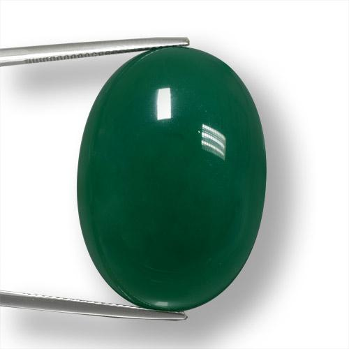 Green Agate Gem - 55.7ct Oval Cabochon (ID: 457894)