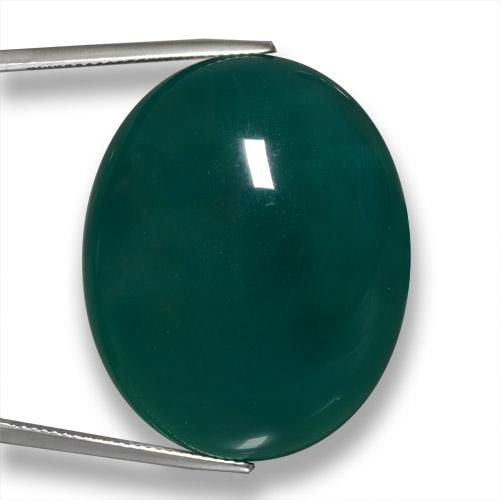 Green Agate Gem - 63.8ct Oval Cabochon (ID: 458053)