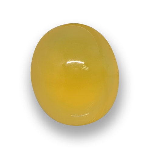 Deep Yellow Agate Gem - 6ct Oval Cabochon (ID: 458299)