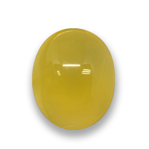 Honey Yellow Agate Gem - 3.8ct Oval Cabochon (ID: 458316)