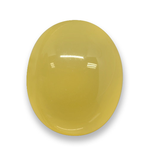 Yellow Agate Gem - 3.7ct Oval Cabochon (ID: 458318)