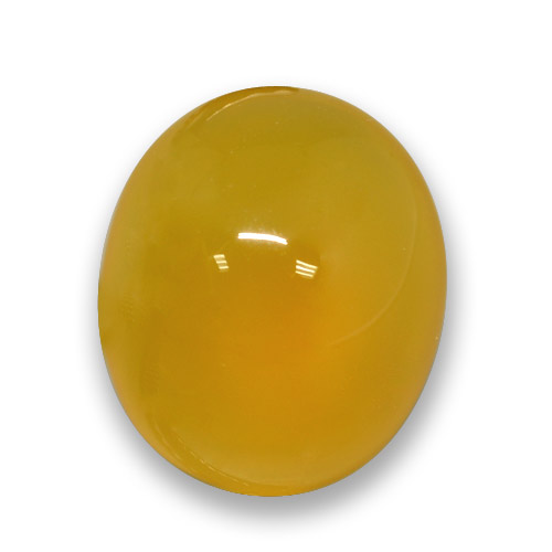 Yellow Agate Gem - 3.7ct Oval Cabochon (ID: 458326)