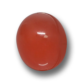 Medium Red Agate Gem - 4.7ct Oval Cabochon (ID: 458394)