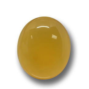 Yellow Agate Gem - 5.1ct Oval Cabochon (ID: 458529)