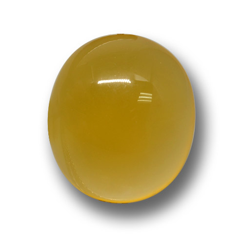Yellow Agate Gem - 4.5ct Oval Cabochon (ID: 458619)