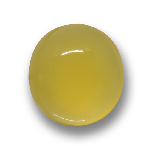 Yellow Agate Gem - 6.6ct Oval Cabochon (ID: 458691)