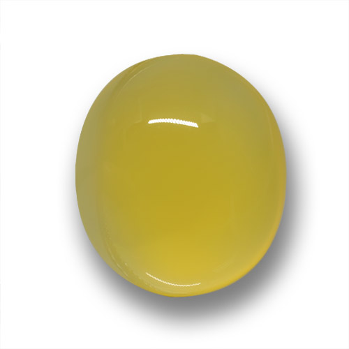 Yellowish Gold Agate Gem - 4.2ct Oval Cabochon (ID: 458692)