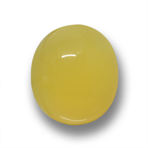 Medium Yellow Agate Gem - 4ct Oval Cabochon (ID: 458693)