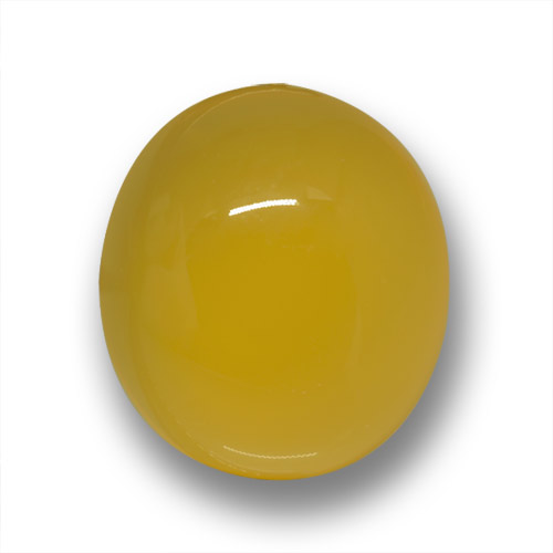 Yellow Agate Gem - 3.6ct Oval Cabochon (ID: 458719)