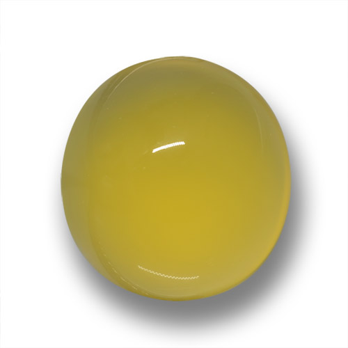 Tuscany Yellow Agate Gem - 5.1ct Oval Cabochon (ID: 458720)