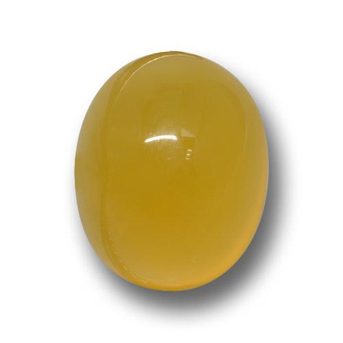 Golden-Orange Agate Gem - 4.8ct Oval Cabochon (ID: 458764)