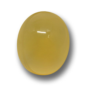 Yellow Agate Gem - 5.8ct Oval Cabochon (ID: 458767)