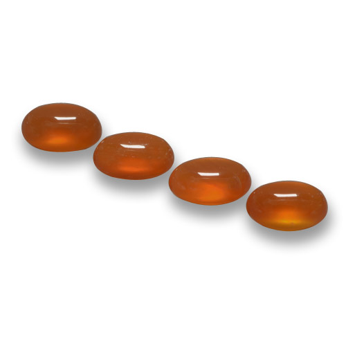 Orange Agate Gem - 0.6ct Oval Cabochon (ID: 459502)