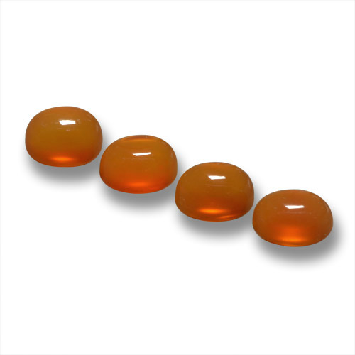 Orange Agate Gem - 0.5ct Oval Cabochon (ID: 459588)