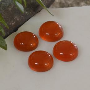 Orange Agate Gem - 0.4ct Round Cabochon (ID: 468720)