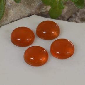 Orange Agate Gem - 0.4ct Round Cabochon (ID: 468724)