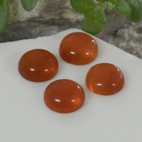 Orange Agate Gem - 0.4ct Round Cabochon (ID: 468725)
