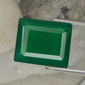 Medium Green Agate Gem - 5.6ct Octagon Step Cut (ID: 468734)