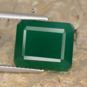 Medium Deep Green Ágata Gema - 5.6ct Corte octagonal (ID: 478081)