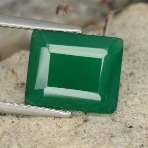 thumb image of 3.8ct Octagon Step Cut Green Agate (ID: 478131)