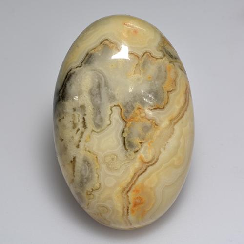 Multicolor Agate Gem - 57.2ct Oval Cabochon (ID: 512013)