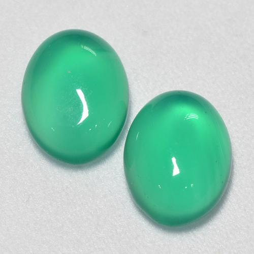 Green Agate Gem - 1.1ct Oval Cabochon (ID: 518188)