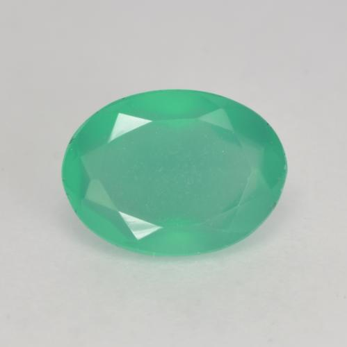 Light Emerald Green Ágata Gema - 1ct Forma ovalada (ID: 534577)