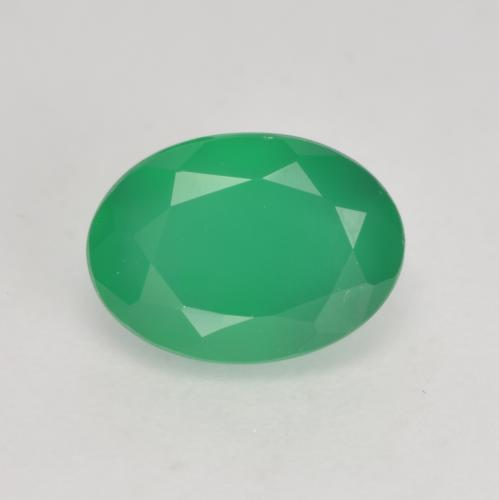 Clover Green Agate Gem - 1.2ct Oval Facet (ID: 534581)