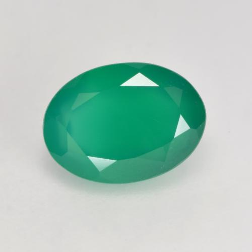 Light Green Agate Gem - 1.3ct Oval Facet (ID: 534583)