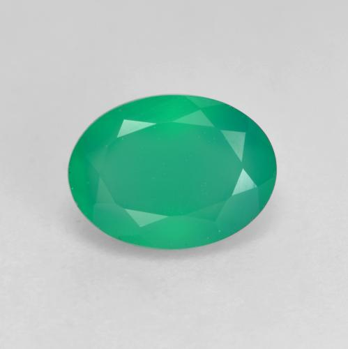 Light Green Agate Gem - 1.1ct Oval Facet (ID: 534584)