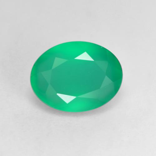 Clover Green Agate Gem - 1.1ct Oval Facet (ID: 534585)