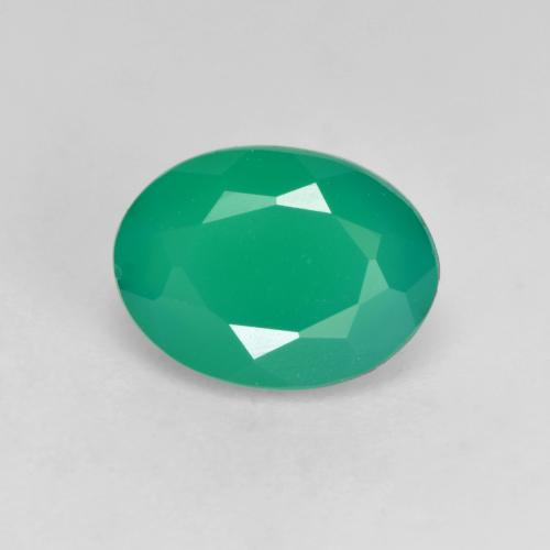 Light Green Agate Gem - 1.1ct Oval Facet (ID: 534592)