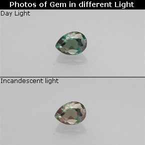 Buy 0.10 ct Green/Red Alexandrite 3.14 mm x 2.3 mm from GemSelect (Product ID: 280852)