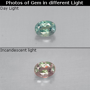 Buy 0.13 ct Green/Red Alexandrite 3.25 mm x 2.5 mm from GemSelect (Product ID: 280874)