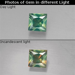0.22 ct Natural Green/Red Alexandrite