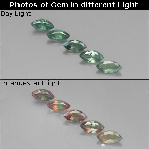 Buy 1.20ct Green/Red Alexandrite 5.87mm x 3.04mm from GemSelect (Product ID: 318062)