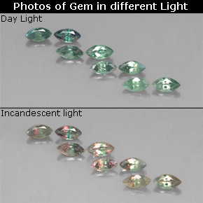 Buy 1.36 ct Green/Red Alexandrite 4.87 mm x 2.5 mm from GemSelect (Product ID: 318066)