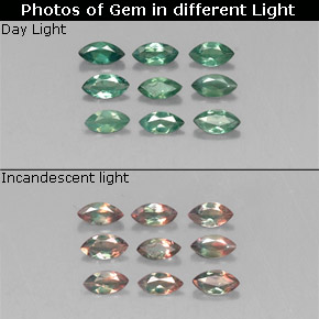 Buy 0.70 ct Green/Red Alexandrite 4.01 mm x 2 mm from GemSelect (Product ID: 318072)