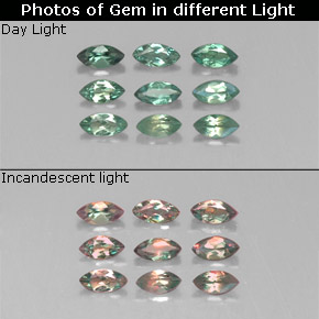 Buy 0.79ct Green/Red Alexandrite 4.04mm x 2.01mm from GemSelect (Product ID: 318075)