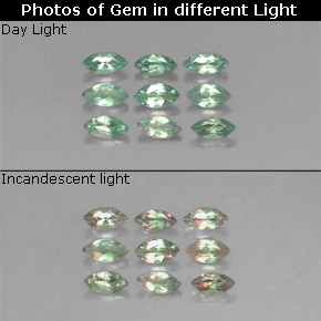 Buy 0.73 ct Green/Red Alexandrite 3.92 mm x 2 mm from GemSelect (Product ID: 318085)