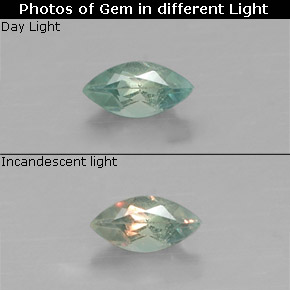 Buy 0.10 ct Green/Red Alexandrite 3.94 mm x 2 mm from GemSelect (Product ID: 318090)