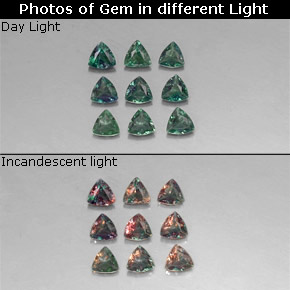 Buy 0.97 ct Green/Red Alexandrite 3.16 mm x 3.1 mm from GemSelect (Product ID: 318308)