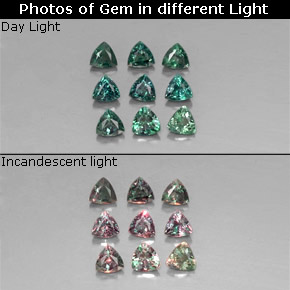 1 3ct Green Red Alexandrite Gems From Tanzania Natural And