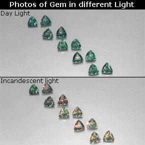 Buy 1.18 ct Green/Red Alexandrite 3.17 mm x 3.1 mm from GemSelect (Product ID: 318313)