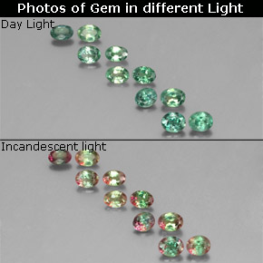 2ct Green Red Alexandrite Gems From Tanzania Natural And Untreated
