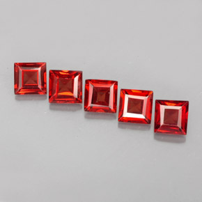 2.31 ct total Natural Orange Red Almandine Garnet