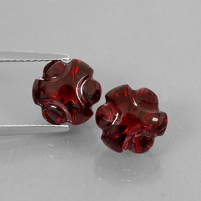 Buy 7.99 ct Deep Red Almandine Garnet 9.02 mm x 8.6 mm from GemSelect (Product ID: 324863)