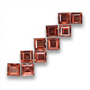 Medium Red Almandine Garnet Gem - 0.4ct Square Step-Cut (ID: 463067)